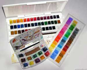 The new and old watercolour kits