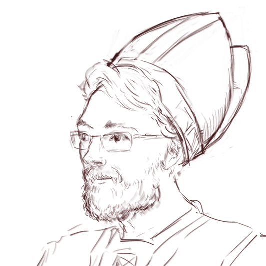 Pope Hat Drawing to Look Somewhat Pope-ish